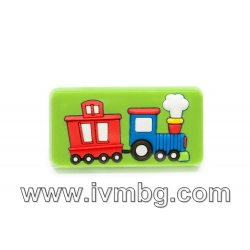 Детска дръжка - Влак, зелен фон