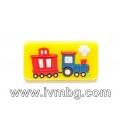 Детска дръжка - Влак, жълт фон